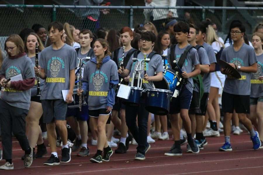 Salesianum+Band+Marches+into+New+Season