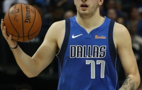 Luka Doncic gets his game face on, competing for the prestigious Rookie of the Year Award.