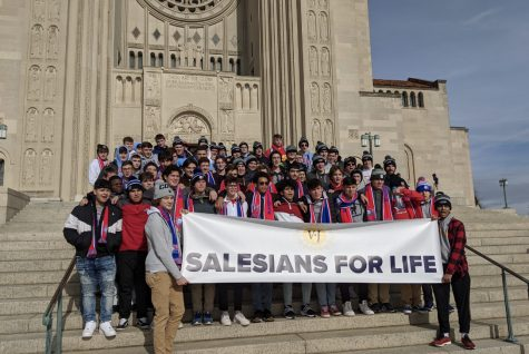 Joined arm in arm with two other Salesian schools from across the nation, it's no mystery that these students stand up for life and the gift of living.