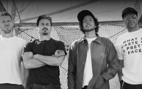 (From left to right) Bassist Tim Commferford, drummer Brad Wilk, vocalist Zack de la Roche, and guitarist Tom Morello make up Rage Against the Machine.