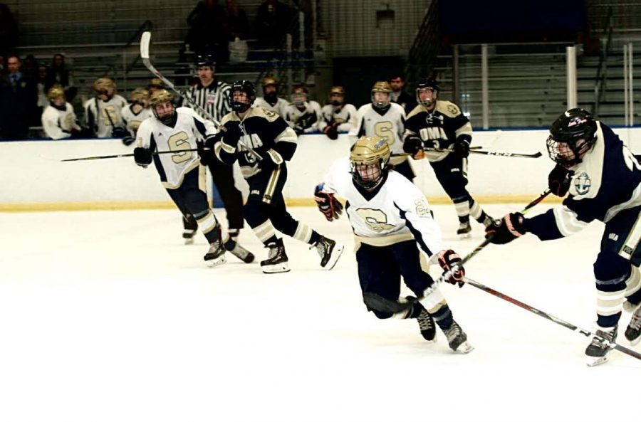 Salesianum+Hockey+State+Championships%3A+Chip-Chasing+On+The+Ice