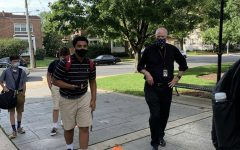 Even in such trying times, Salesianum adapts and overcomes as masks and sanitizer guidebook the way to wellness on the first day back.