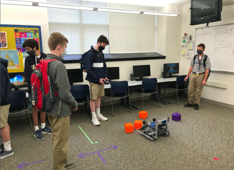 Robotics Club tests out their latest creation