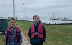 Ian Gosse and Lenny Warren, both '24, ready themselves for the open waters ahead!
